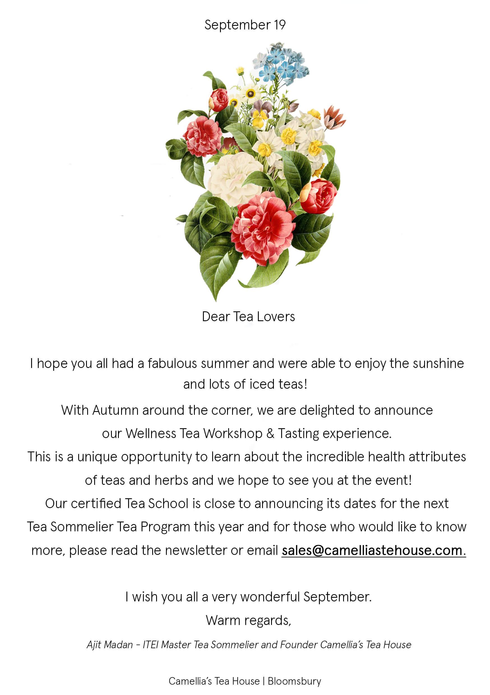 September Tearoom Newsletter