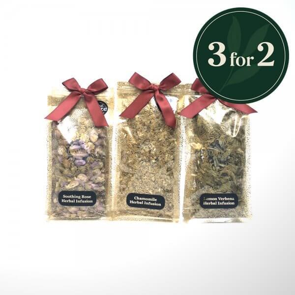 3 bags of herbal loose leaf tea