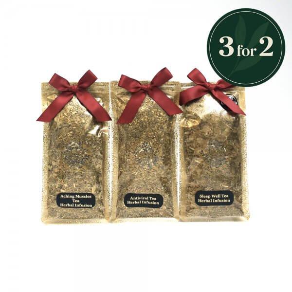 3 bags of wellness teas