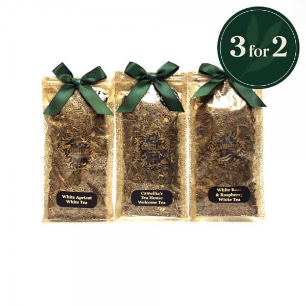 3 bags of loose leaf white and green fusion tea